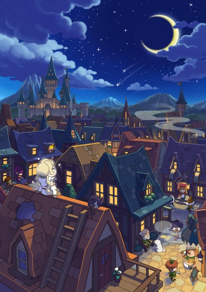 Fantasy Life_ill_Reveria at night