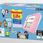 Une Nintendo 2DS rose et blanche disponible en pack avec «Tomodachi Life»
