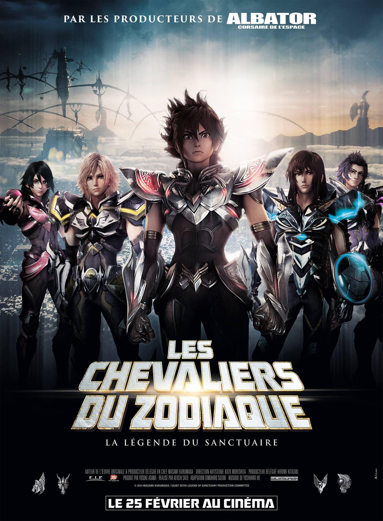 Les Chevaliers du Zodiaque - La légende du Sanctuaire Affiche fr