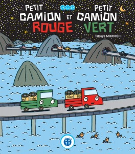 camion-vert-camion-rouge